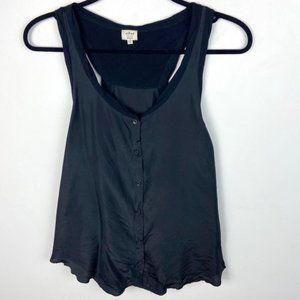 Aritzia Wilfred Silk Sleeveless Button Down Tank M